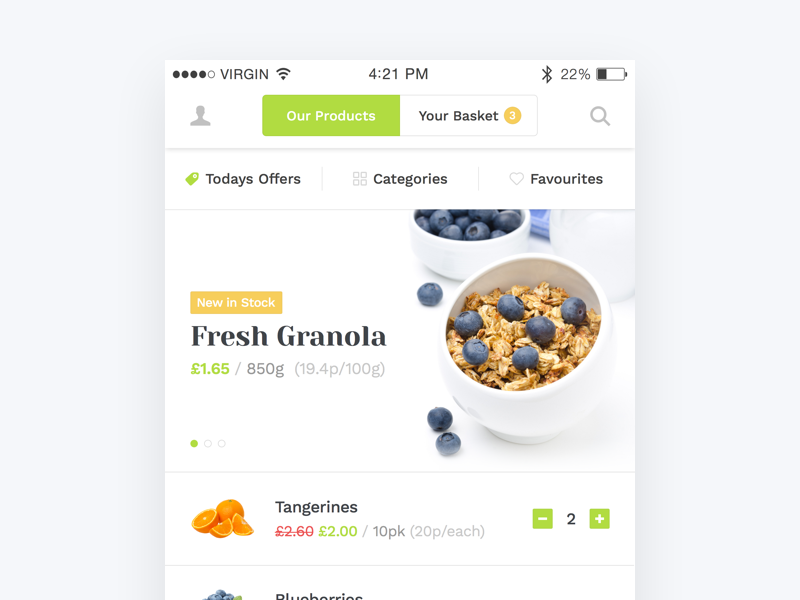 Grocery Market Mobile App mobile fresh market app store food grocery
