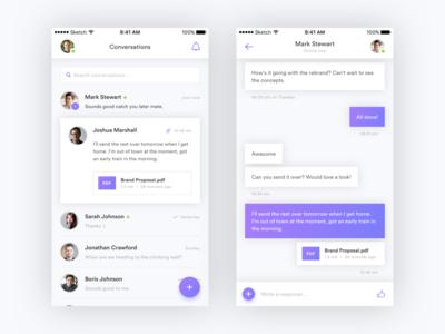 Messaging App iOS Concept