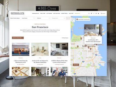 Remodelista Design Travel Map freight text san francisco tourist filter pins circular shop restaurant map travel remodelista