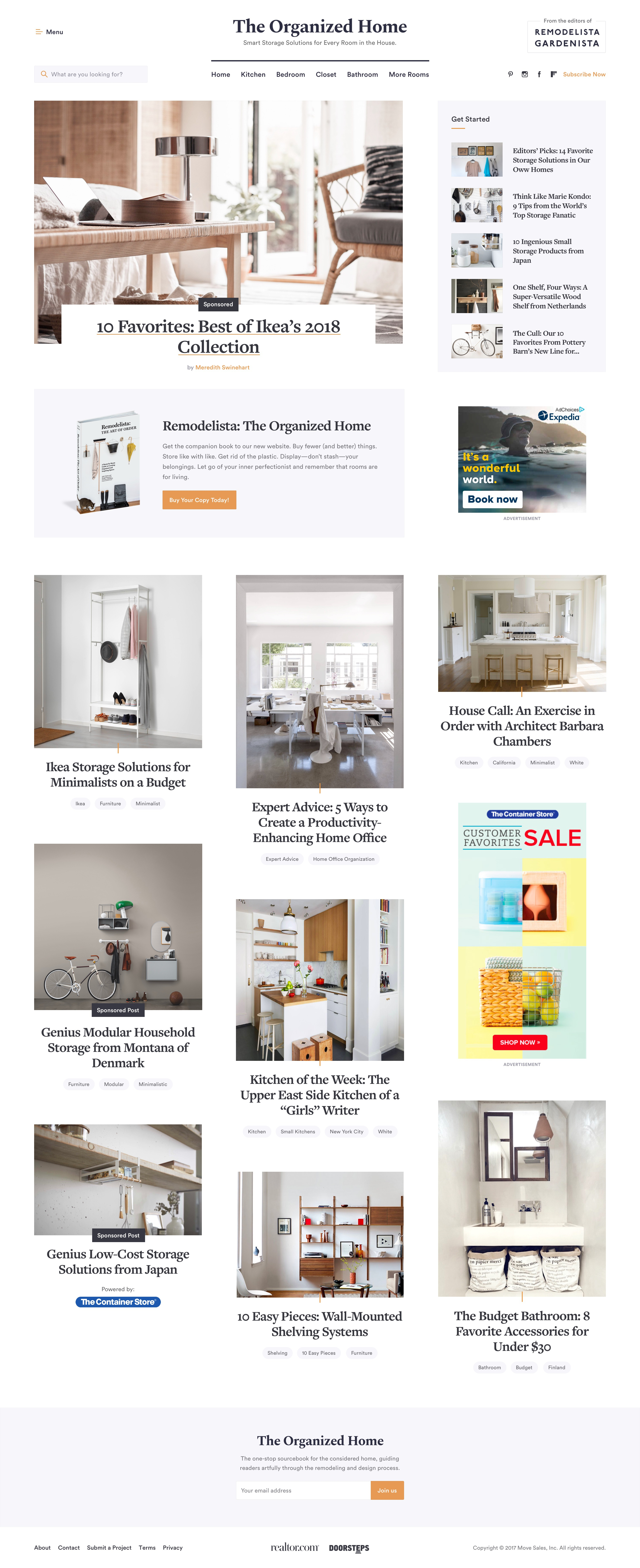 The organized home homepage 2x