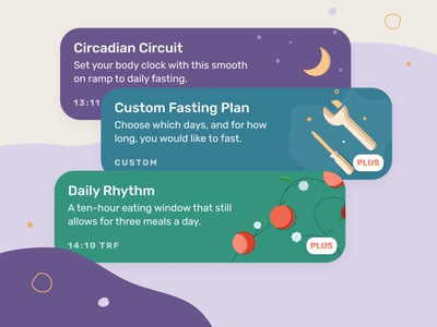 Fasting Plans wellness health illustration ui
