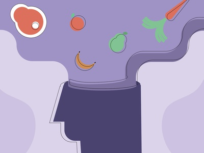 Looking for Distractions from Food food wellness health illustration