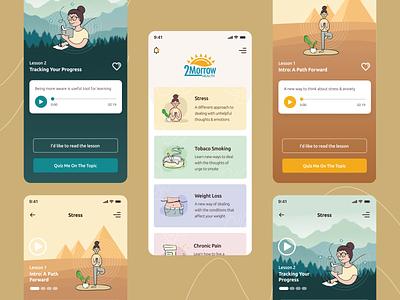 Behavioral Health App - Concept ui logo illustration ui design design ux design interaction design digital product design app uiux app ui