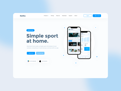 Netfita - Workout app mobile ui mobile minimal inspiration desktop logo design website design website ux ui app design web app
