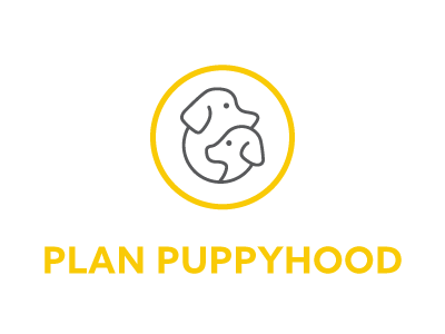 Plan Puppyhood Logo logo graphic design dogs pups