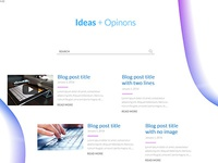 Web Design Preview - Blog page