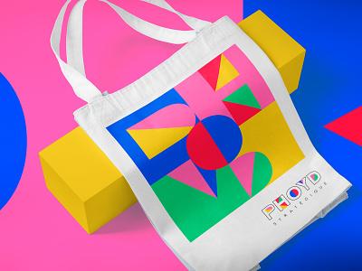 PHOYD colorful illustration vector branding logo design