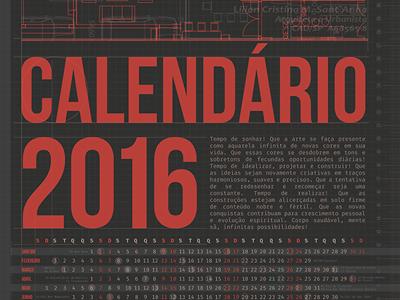 Calendario2016 calendário design