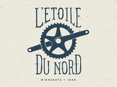 L'Etoile du Nord - Star of the North letoile du nord pedal minnesota minnesota biking bike bicycle crank shirt poster star of the north