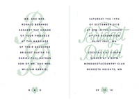 Bridget + Dan's Wedding - Invitation