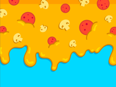 Sticky Situation pattern pizza illustration liquid drip sticky cheese