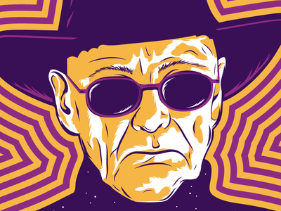 Silver Apples edmonton yeg psychedelic festival music poster gig digital portrait illustration