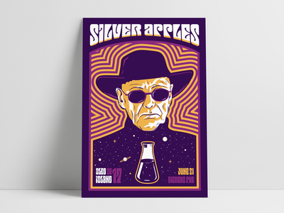 Silver Apples Gig Poster