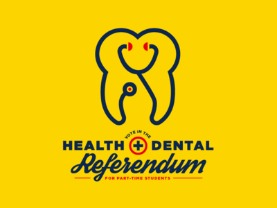 Health & Dental Referendum icon university edmonton yeg type identity logo stethoscope tooth dental health