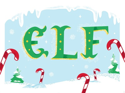 Elf pole north holiday cane candy winter snow illustration texture christmas elf