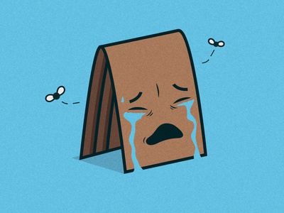 Weeping Wallet character weep wallet drawing icon edmonton flat illustration