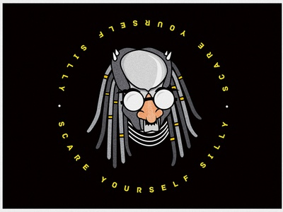 Scare Yourself Silly character halloween silly predator drawing clean icon edmonton flat illustration