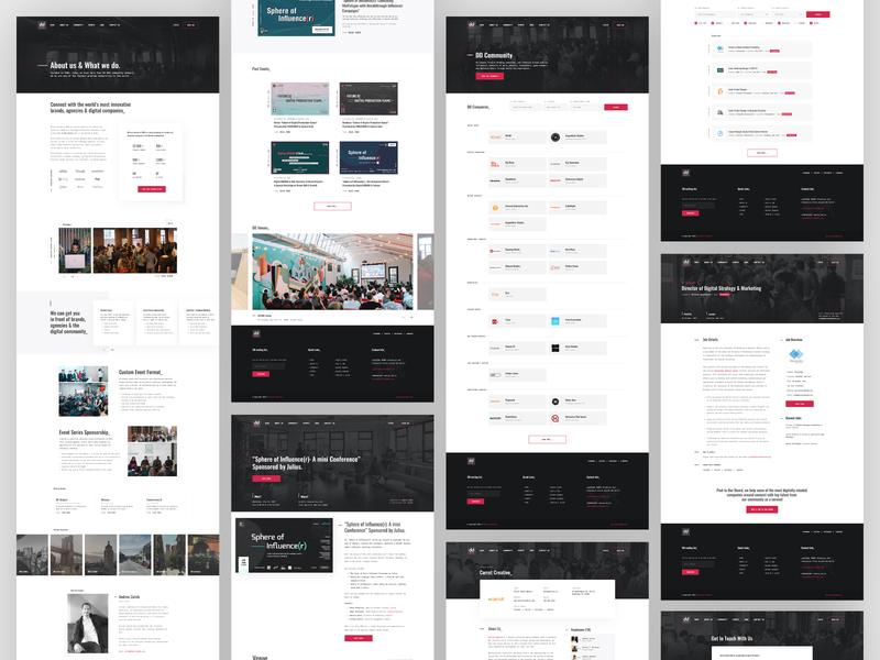 Digital DUMBO | Website ui user interface design web design event branding event management online platform digital platform event platform event
