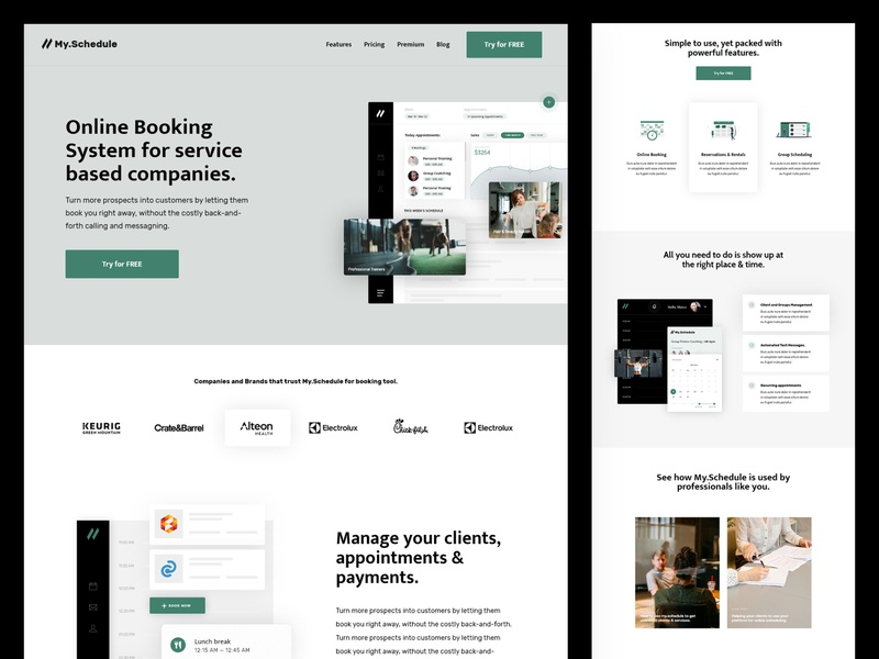 My Schedule | Landing Page user interface saas landing page saas website web design web landingpage appointment booking appointment booking app saas booking tool booking