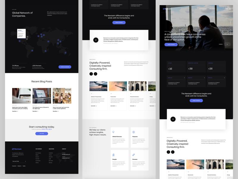 Nextsem Digital Consultancy | Homepage web design professional management corporate identity website webdesign layout homepage corporate consulting consultancy advisory