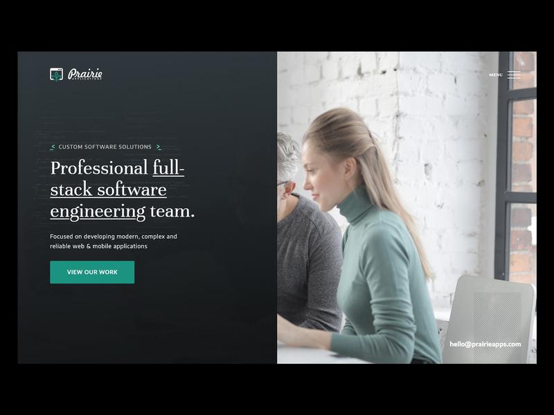 Prairie Software Developers | Header developers programmers software development engineers software user interface website web design branding