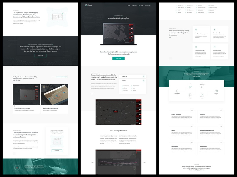 Prairie Software Developers | Website programmers software development company software agency typography website design user interface web design branding