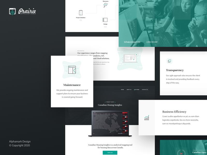 Prairie Software Developers | UI Elements agency website illustrations software developers agency ui elements website user interface web design