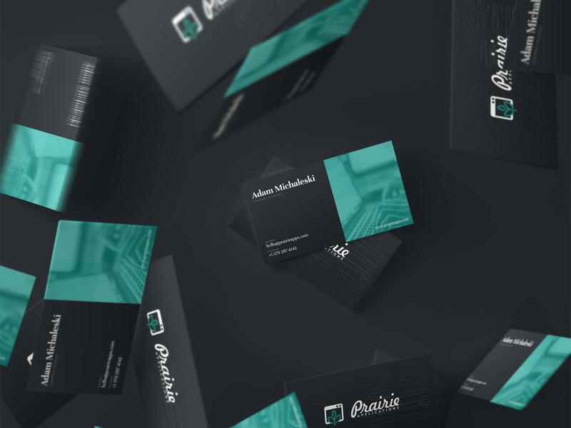 Prairie Software Developers | Business Cards identity design branding agency branding development agency software developers agency layout typography business card design business cards
