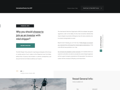 MKD Shipper website shipment ship boat transport shipping cargo container grid header layout web design