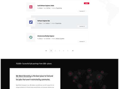 We Work Remotely - Redesigned globe remote jobs remote remote work job board website header layout web design