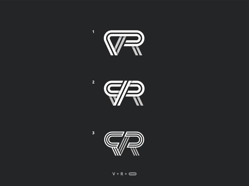 VR Logo Exploration r letter v letter vr logo brand mark logo grid logo design branding logo concept logo mark logo virtual reallity vr
