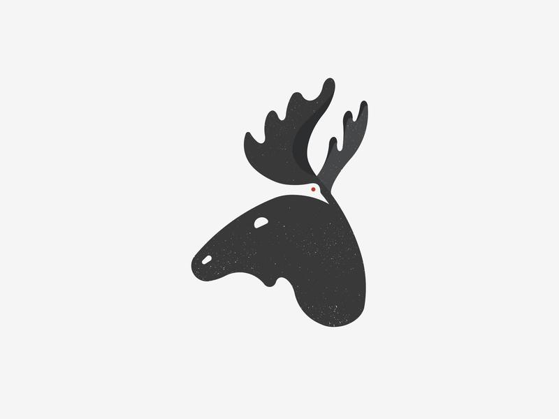 Moose animal bird logo negative space logo negative bird moose logo mark logo animal logo