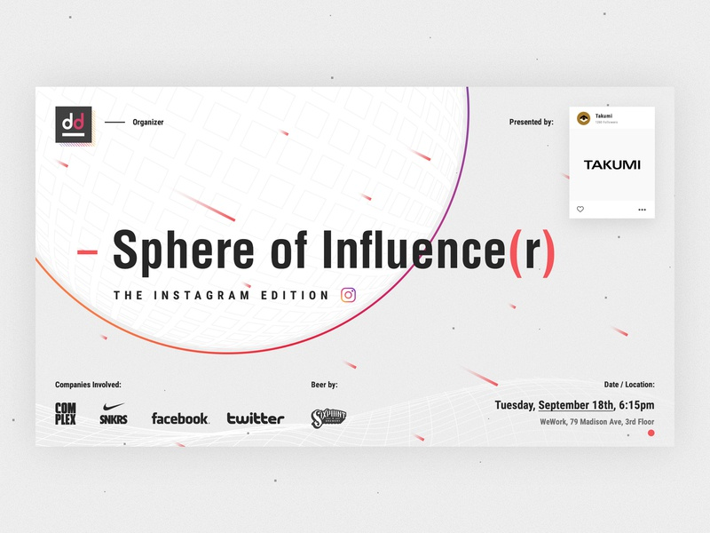 Sphere Of Influence(r) || event agency ui design poster design marketing event flyer design poster flyer tech event creative event event