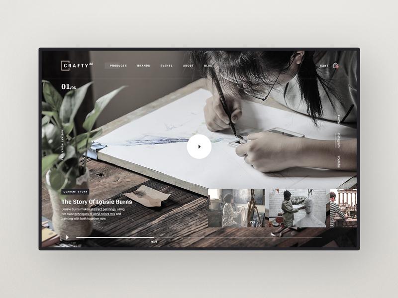 Crafty88 Video video background player web design ecommerce art supplies web design design userinterface website video header