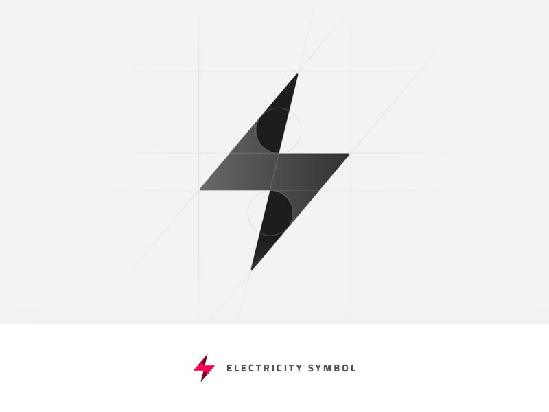 Electricity Symbol electric vector illustration grid logo grid design branding logo mark power bolt bolt icon symbol icon logo symbol electricity