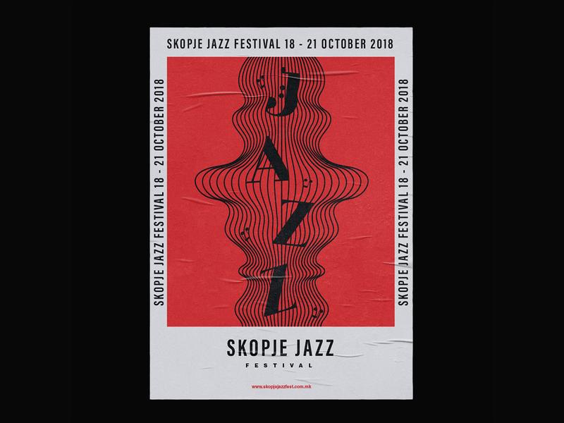 Skopje Jazz Festival Poster festival jazz festival jazz jazz poster poster poster design festival poster flyer flyer design branding poster collection poster art