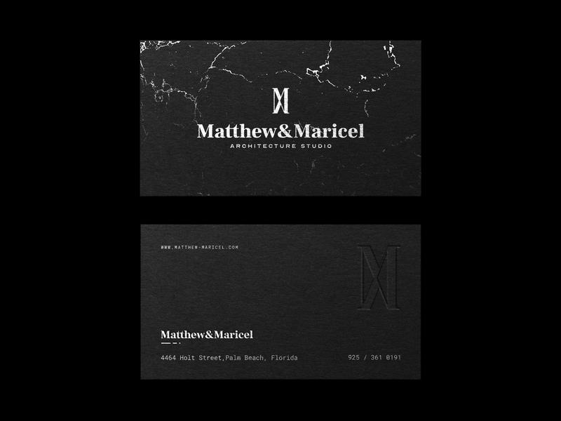 Business Cads Design for MM business card mm logo logomaker logo mark symbol logomark logo architecture logo dark architecture business cards