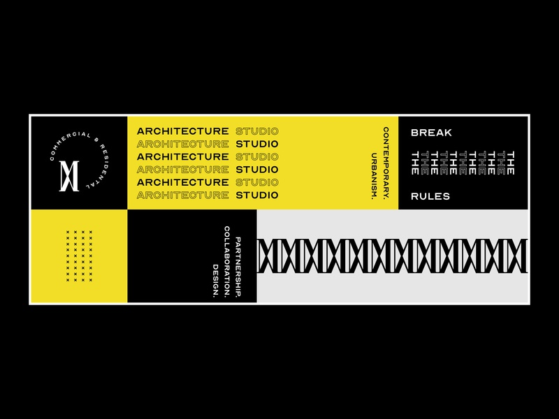 Banner Design for Matthew and Maricel Architecture Studio branding poster typography poster art flyer poster design architectural design typography layout banner architecture