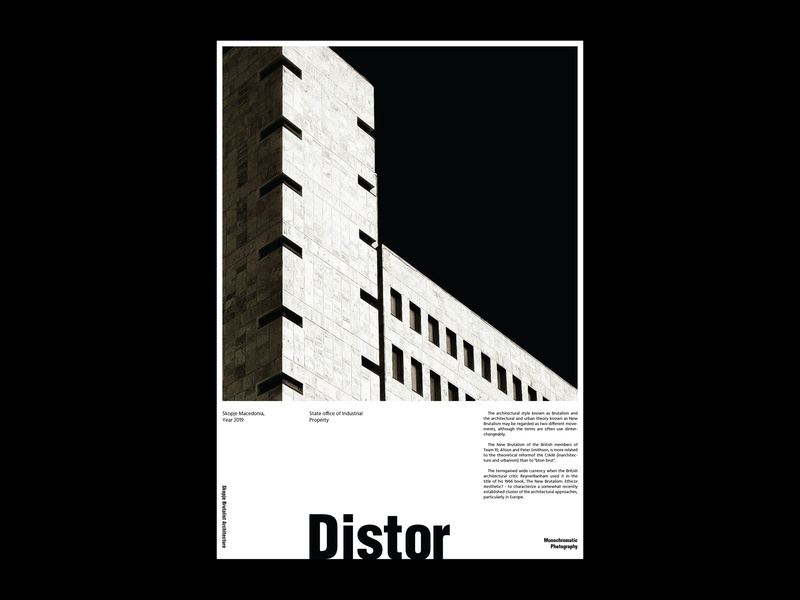 Distor Poster poster collection architecture helvetica typography poster art architecture poster layout poster