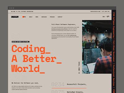 CTAR_ Software Engineers uidesign landing page code coding software development engineering software logo software engineers layout header design typography website web design