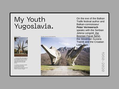 My Yought Yugoslavia typography branding architecture website layout exploration architecture brutalist website web design user interface design layout