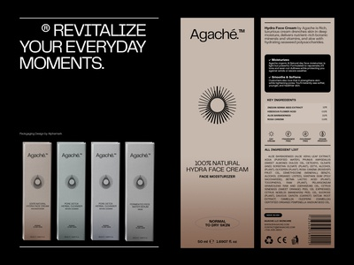 Agache Packaging modern clean layout packaging design packagingdesign logodesign beauty logo cosmetics beauty product skincare packaging branding