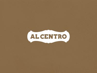 Al Centro - Brand typography logo design branding brand