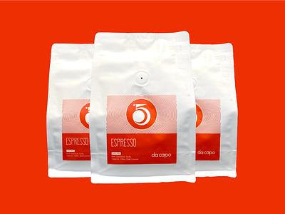 Da Capo - Packaging coffee shop brand print packaging bag coffee