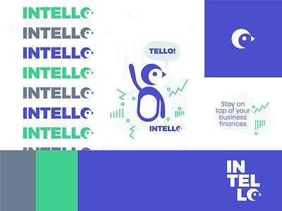 Intello - Brand icon illustration logo branding brand app branding app