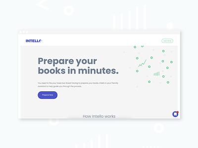 Intello - Landing Page app website landing page