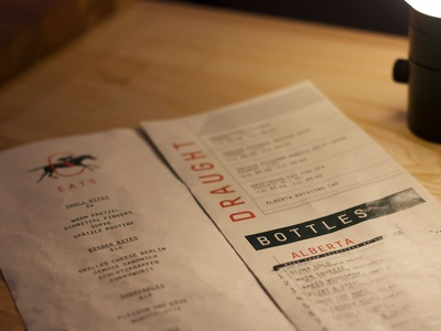 Cartago - Menu print layout restaurant menu design menu