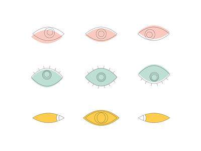 eyes icon illustration