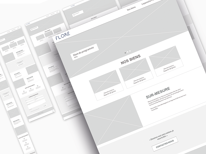 Flore Wireframe contact page landingpage prototyping ux design ux process wireframe