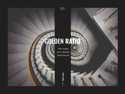Golden Ratio - Design Studio studio figma golden ratio home page typography branding ui design